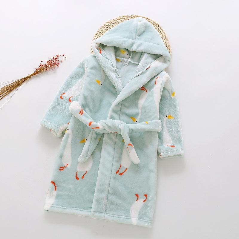Unisex Kids Baby Flannel Bathrobes