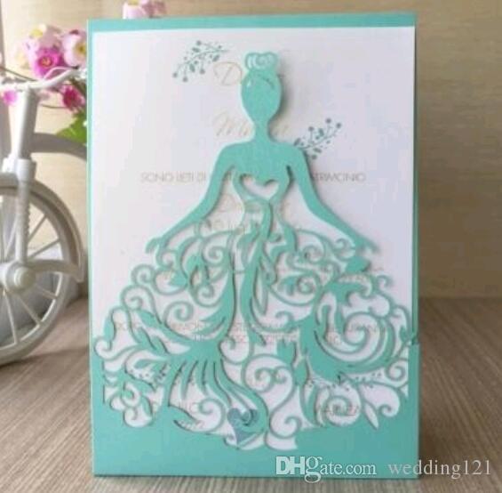 LaCer 컷 결혼식 초대장 카드 웨딩 신부 초대장 카드 웨딩 신부 초대장 참여 초대장 카드