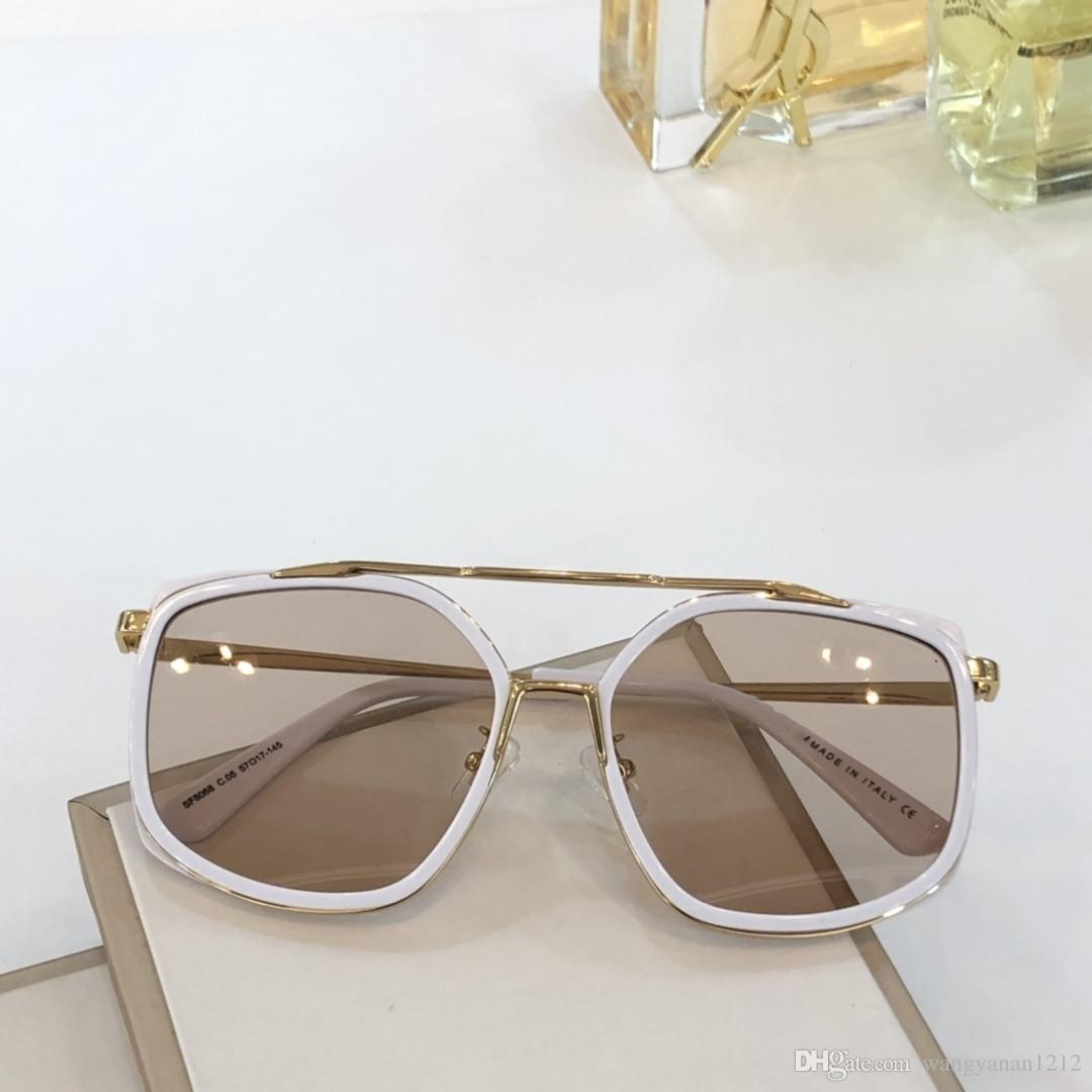 Neueste Verkauf populäre Art und Weise 8086 Frauen Sonnenbrillen Herren Sonnenbrille Männer Sonnenbrille Gafas de sol hochwertige Sonnenbrille UV400 Objektiv mit Kasten
