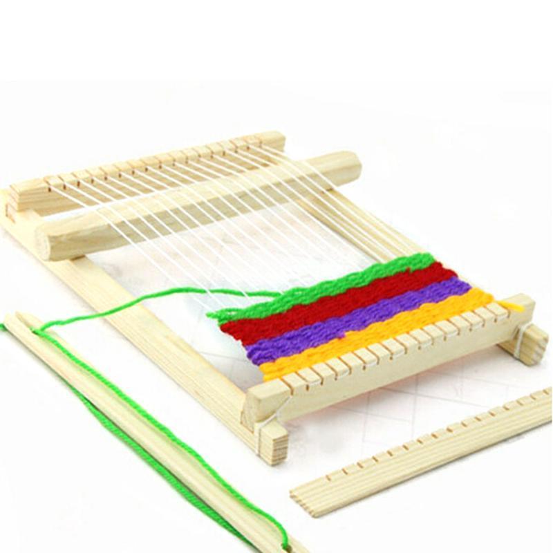 JX-LCLYL tissage traditionnel tricot en bois Métier à tisser avec Toy Accessoires enfants Craft Box