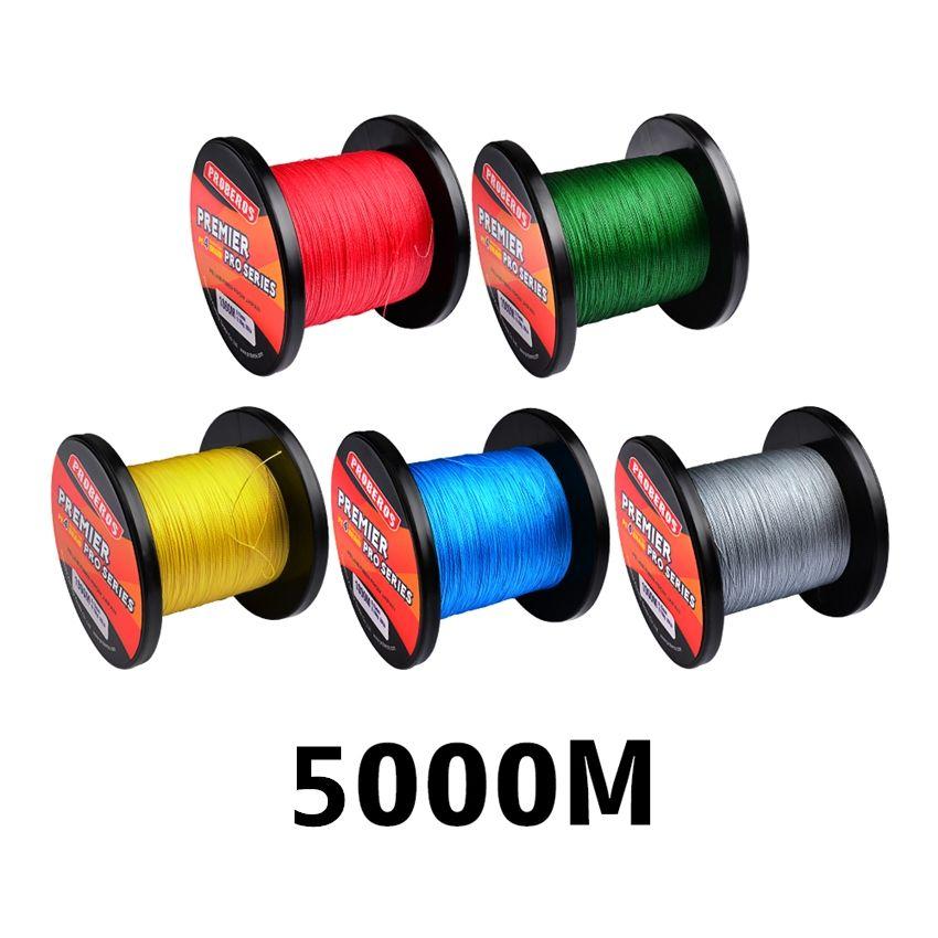 5000m 3000m 1000m 500m 300m W4 Strand Braided PE Fishing lines 4 Weaves Braid Line 10lb~100lb 5colors