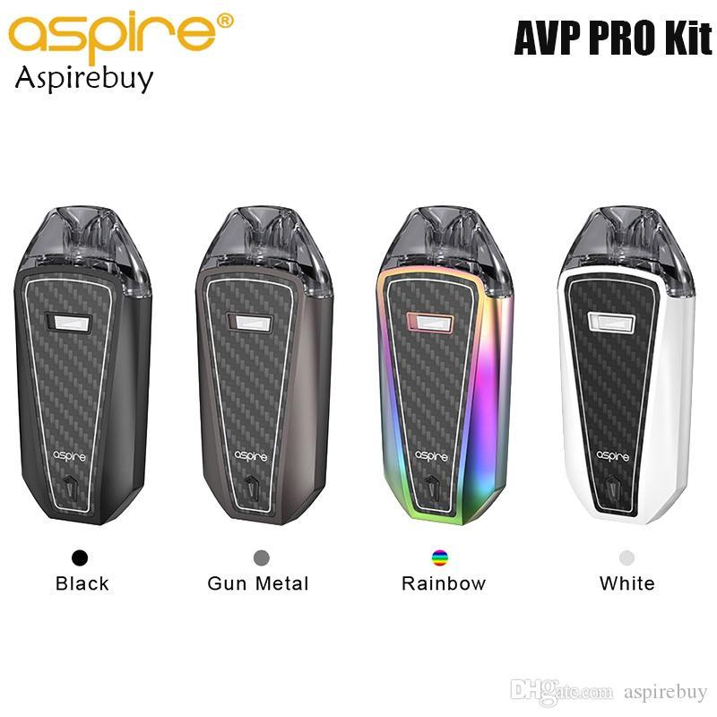 Aspire AVP Pro Kiti 1200mAh Dahili Pil ASP Yongatakımının 4 mi AVP Pro Pod Kartuş Alt Dolum Sistemi Mesh Bobin 0.65ohm Otantik ile