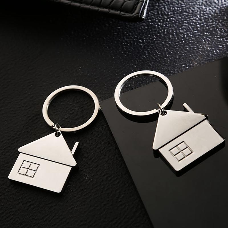 Yaratıcı Ev Anahtarlık Metal Araba Anahtarlık Unisex Taşınabilir Anahtarlık Açık Mini Anahtarlık Sırt Çantası Çanta kolye Hediye Kişiselleştirilebilir VT1549