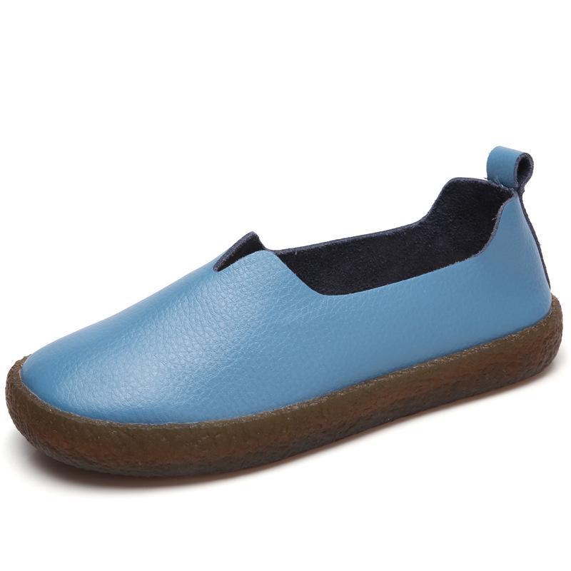المتسكعون المرأة الأحذية المسطحة امرأة جلد طبيعي الانزلاق على عارضة النساء الشقق الصيف الكبار مريح جديد وصول الأحذية MM-308