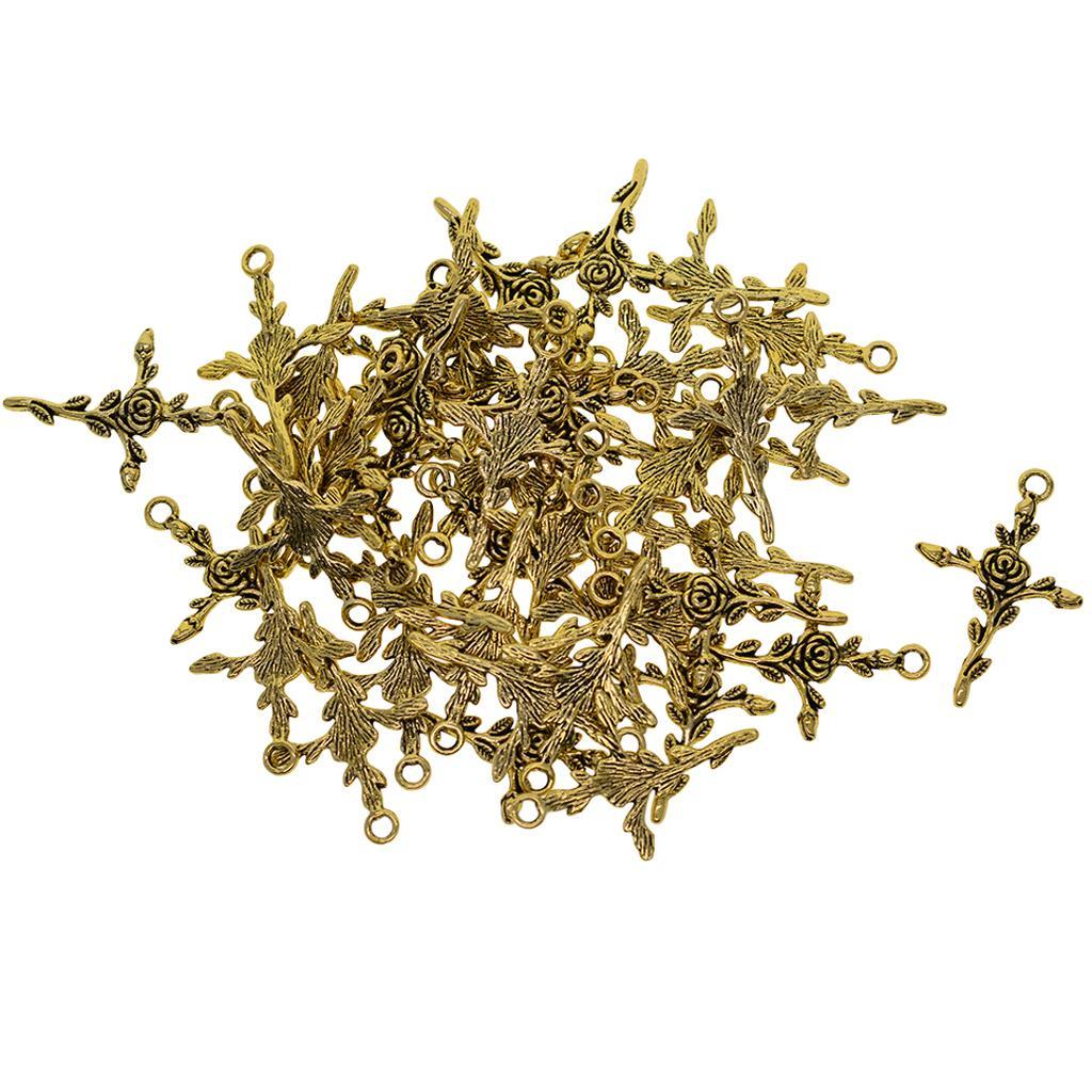 50 шт Античная Крестики Подвески Подвески для браслет и ожерелье DIY изготовления ювелирных изделий Выводы