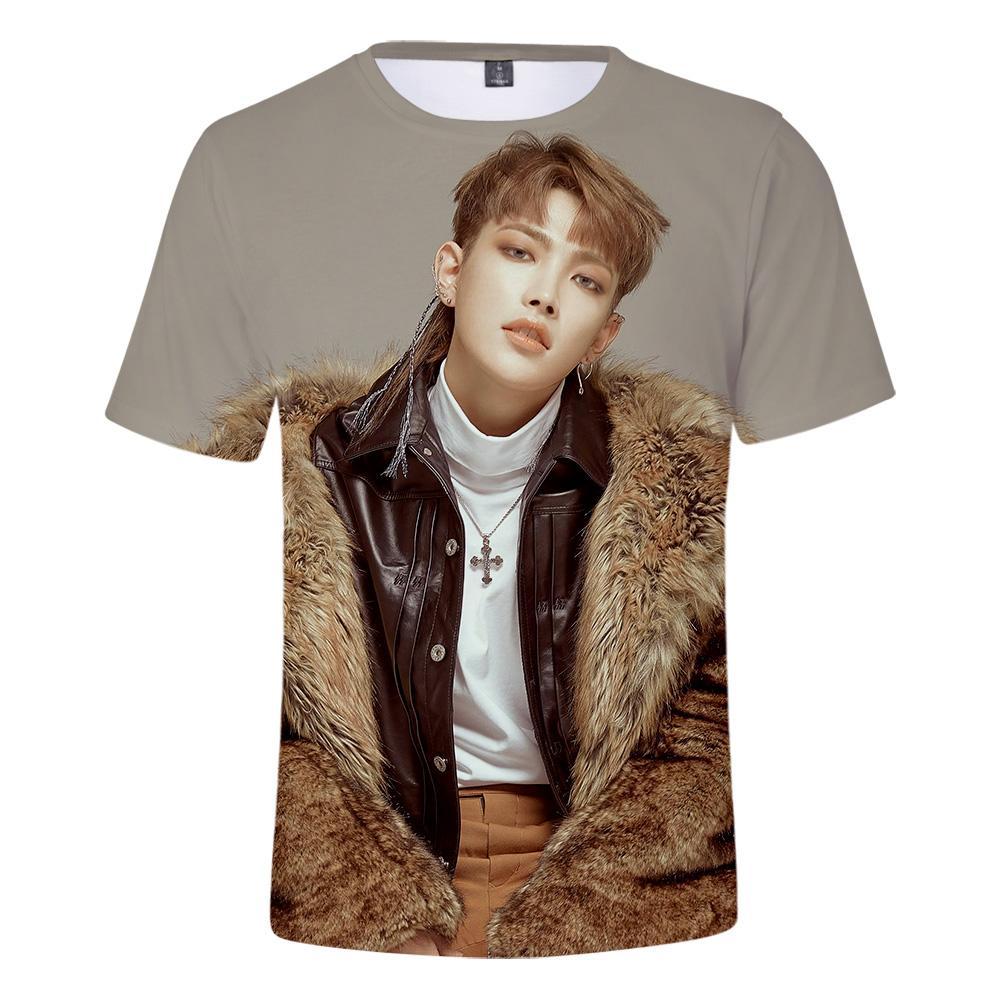 ATEEZ 3D Imprimé Kpop T-shirts Femmes / Hommes De Mode D'été À Manches Courtes T-shirts 2019 Vente Chaude Casual Streetwear T-shirts