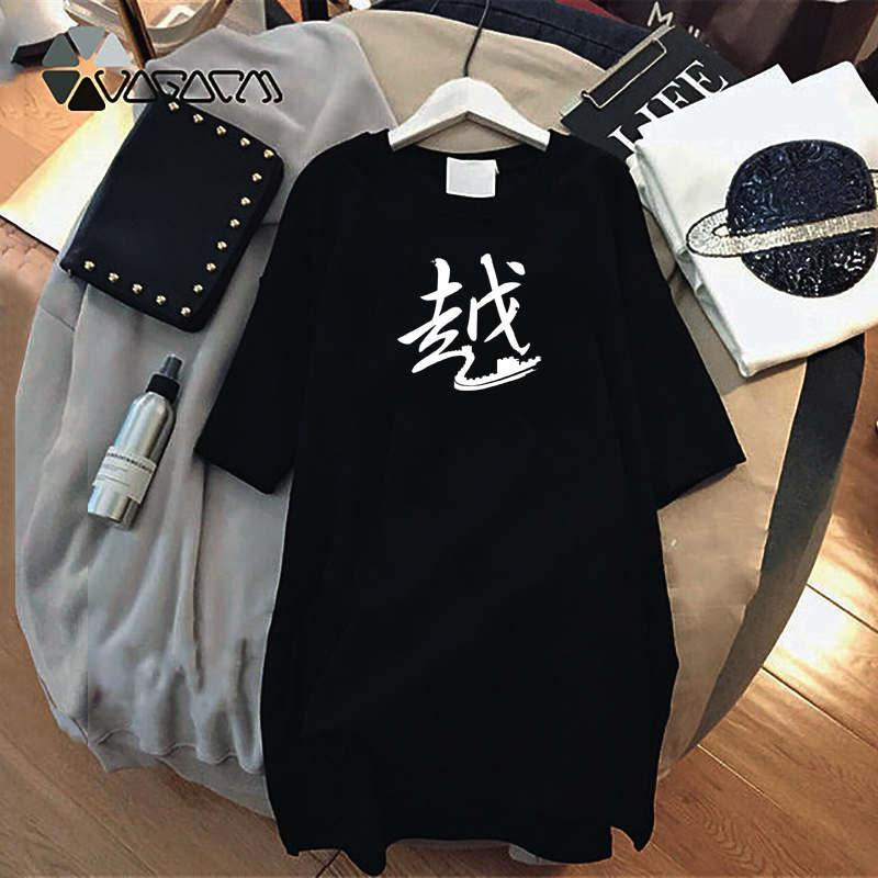 Frauen Designer-Kleider Sommer-Marken mit kurzen Ärmeln Fashion Style gedruckt lange Shirts Luxus Tops Lady legerer Kleidung C001