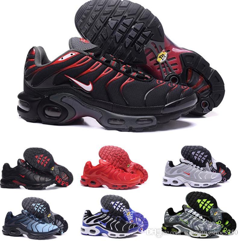 TN PLUS max max 2019 Nouveau Design Top Qualité TN Hommes Shoes Respirant Mesh Chaussures Homme Tn REqUin Noir Chaussures De Plein Air Taille 7-12