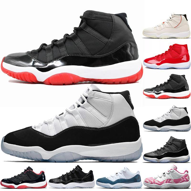 Мужские Кроссовки 11 Разводят обувь Gym Red Concord 11s Баскетбола для женщин Мужчин Gamma Синей Легенды Синего Unc дышащего Спорт Кроссовки Размера 36-47