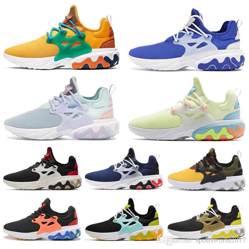Nike Air React Presto BEAMS hombres mujeres zapatos para correr DHARMA triple negro Desayuno Alternate Galaxy para hombre entrenador transpirable zapatillas deportivas corredor
