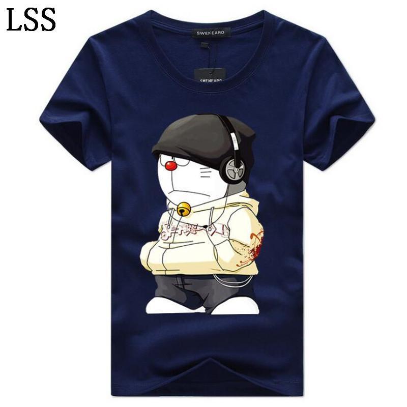 Men's T-Shirts Plus Size 5XL Tee Shirt Men Summer Short Sleeve Print funny T-Shirt Male TShirts Camiseta Tshirt Homme HC-5