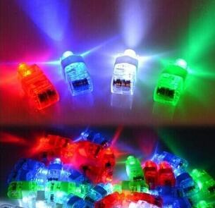 Led Finger Torch Ring Gift Lights Glow Laser Finger Beam Led Flashing Ring Party Flash Kid Toys 4 colors