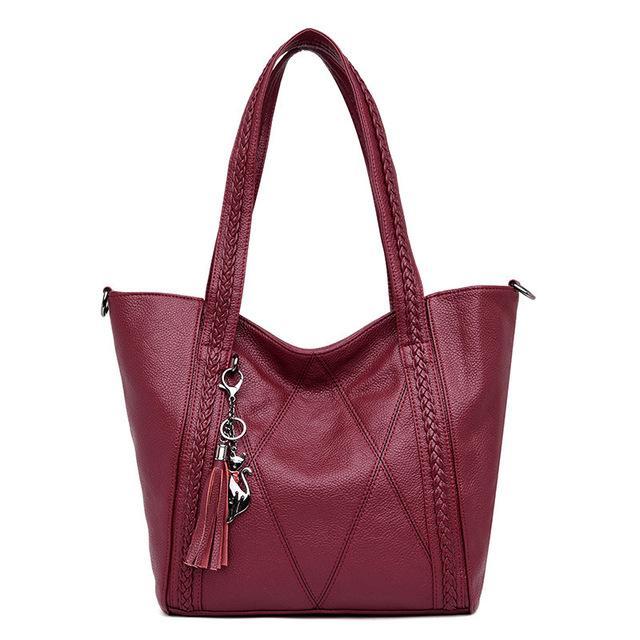 Nuova pelle nappa nuovo grande capacità delle donne Shoulder Bag borsa Messenger Bag Famoso Big Bag borse di alta qualità