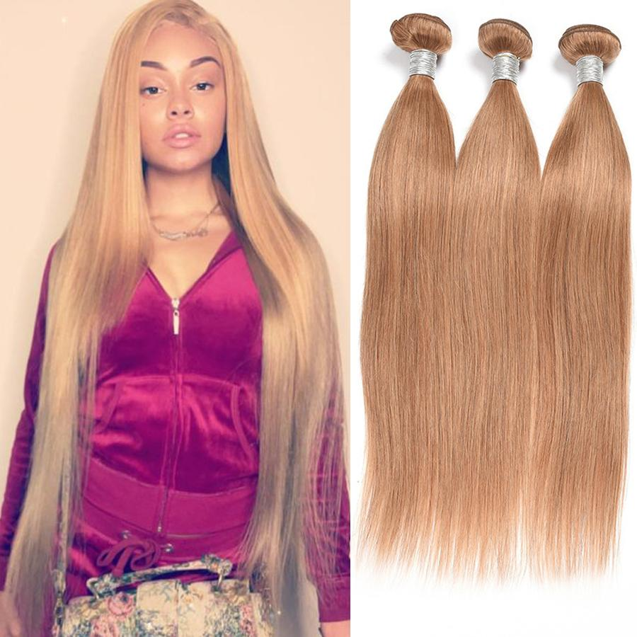 27 Blonde 10 30 Inch 100 Human Hair Bundles Brazilian Hair Straight Colored Human Hair Weave For American African Women Weft 3 Blonde Human Hair Weave Good Human Hair Weave From Uniqueme 69 6 Dhgate Com