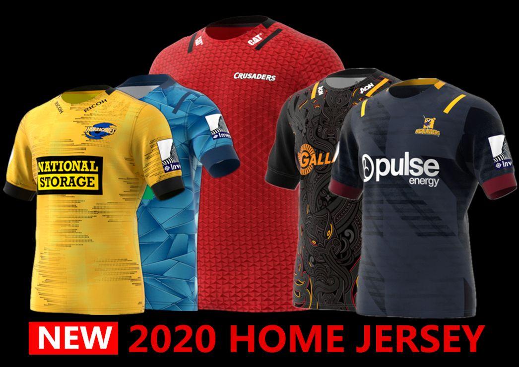 2020 뉴질랜드 슈퍼 럭비 저지 고지 십자군 집 뉴저지 허리케인 블루스 럭비 유니폼 셔츠 크기 S-5XL