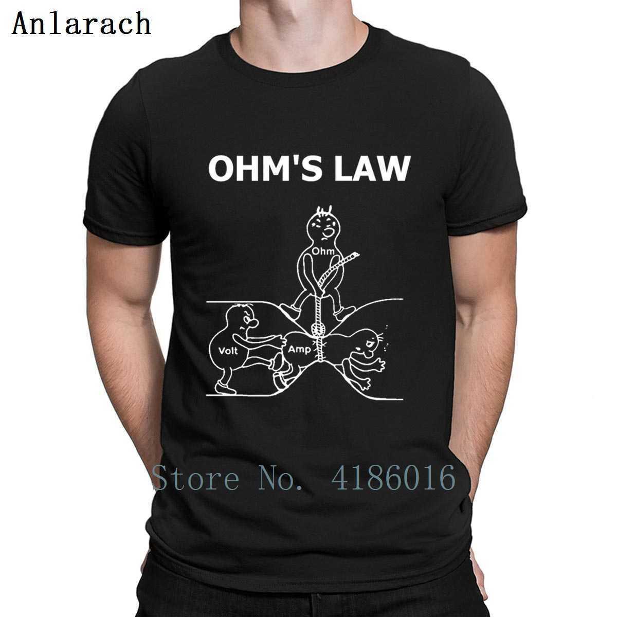 Ohmsche Gesetz für Elektroingenieur T-Shirt Buchstaben S-5xl Cotton Homme neue Art und Weise erstellen Frühlings-Herbst Interessantes Hemd