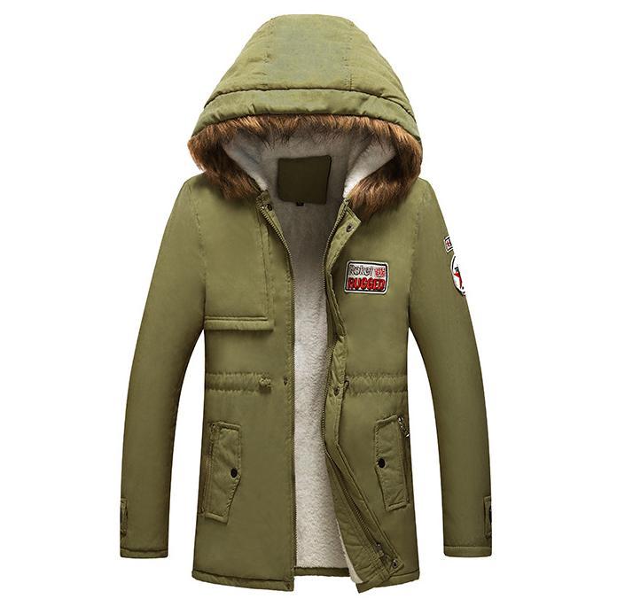 Parka homens casacos 2018 homens jaqueta de inverno fino engrossar casaco de pele com capuz outwear dos homens tops casaco quente top marca clothing casual