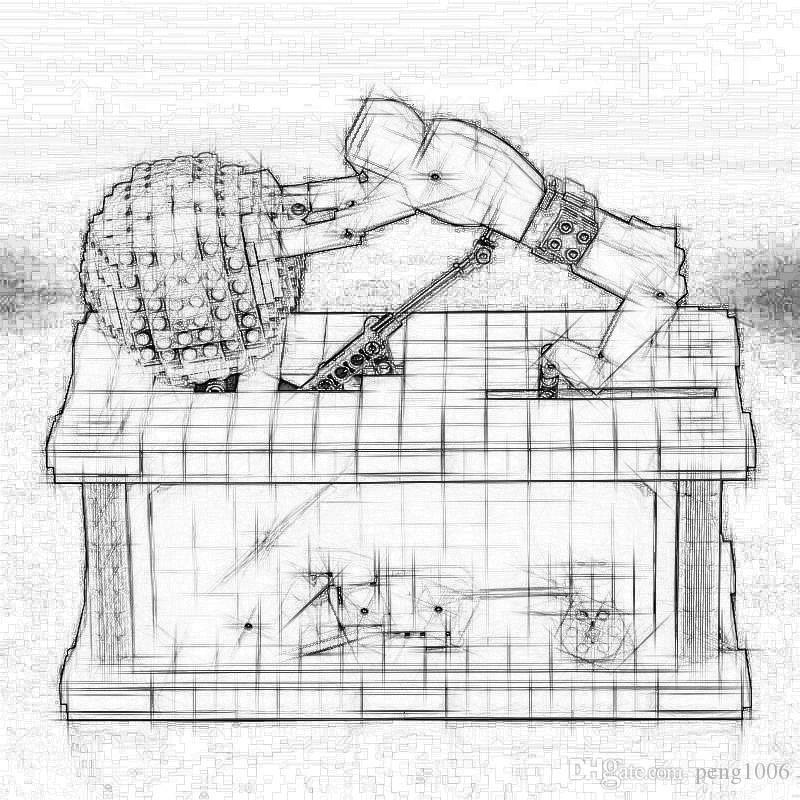 In-Stock 23017 1462Pcs Genuine Technic Series The MOC Sisyphus Moving Set 1518 brand Building Blocks Bricks Christmas Toys