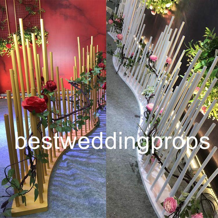 결혼식을위한 새로운 스타일의 뜨거운 판매 화이트 / 골드 인도의 결혼 mandap 기둥이 best0060을 장식
