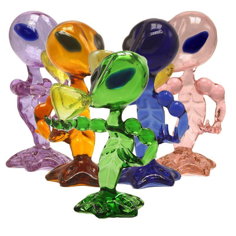"""G Spot Alien barboteur recycleur Dab Rig verre pipe eau Pipes main 6,69"""" pouces Alien verre Oil Rig Dab Bong"""