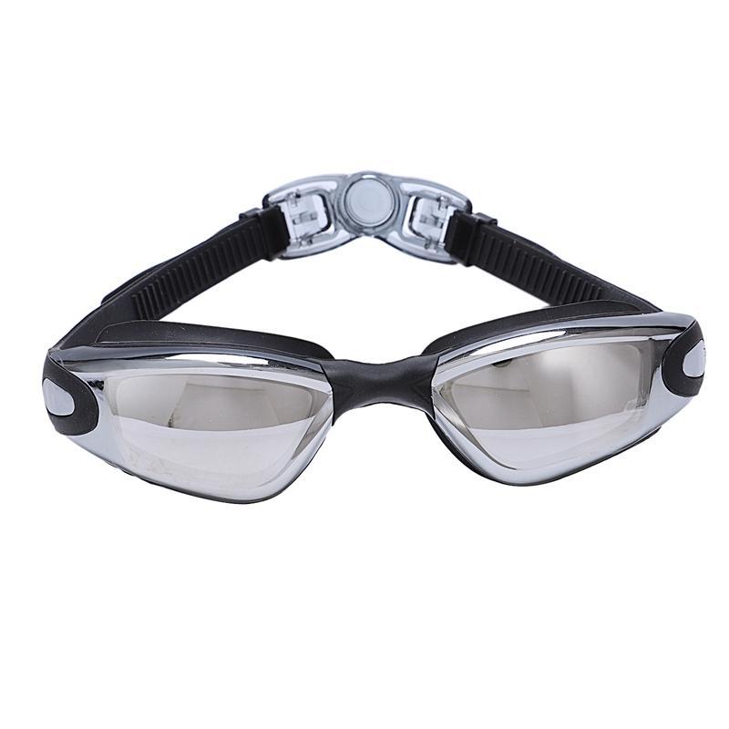 Galvanoplastia UV Waterproof Anti Fog Swimwear Eyewear Swim Mergulho Água Óculos Óculos ajustável Óculos de Natação Mulheres Homens