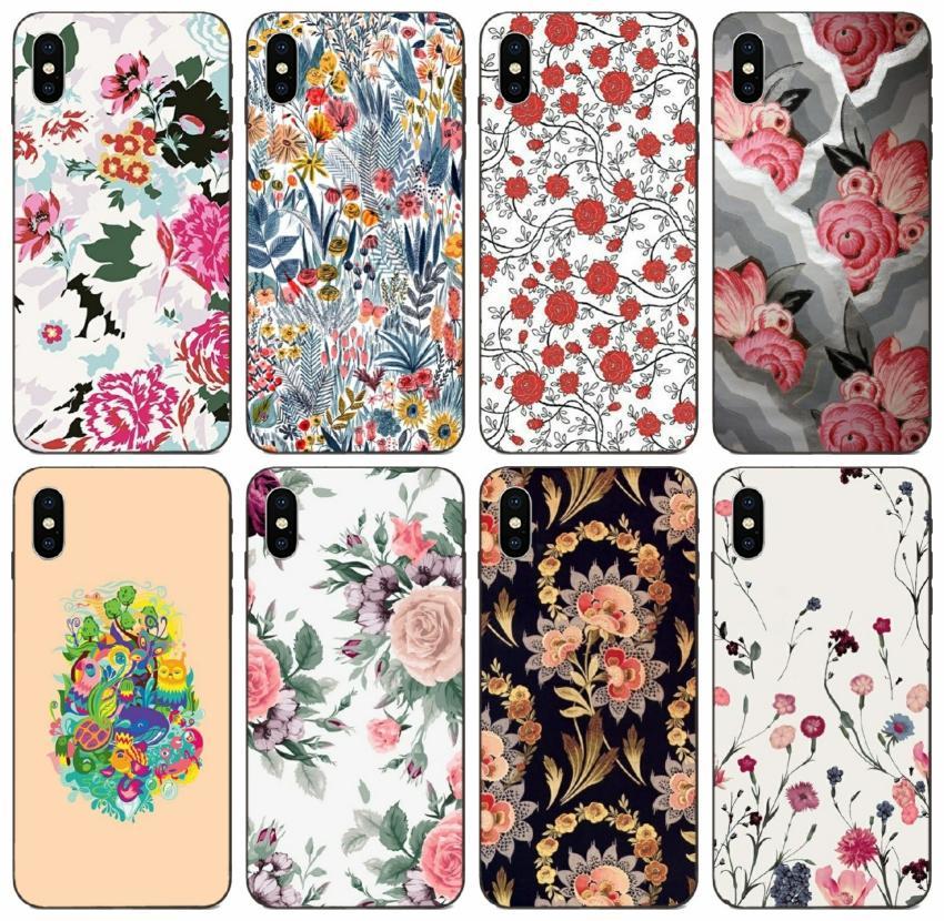 [TongTrade] Довольно Красочный цветочный дизайн Окрашенный чехол для iPhone X XS Max 11 Pro 8 7 6 6s 5s 5 Galaxy A90 A9S Honor 7 Xiaomi 3 4 Vogue Case