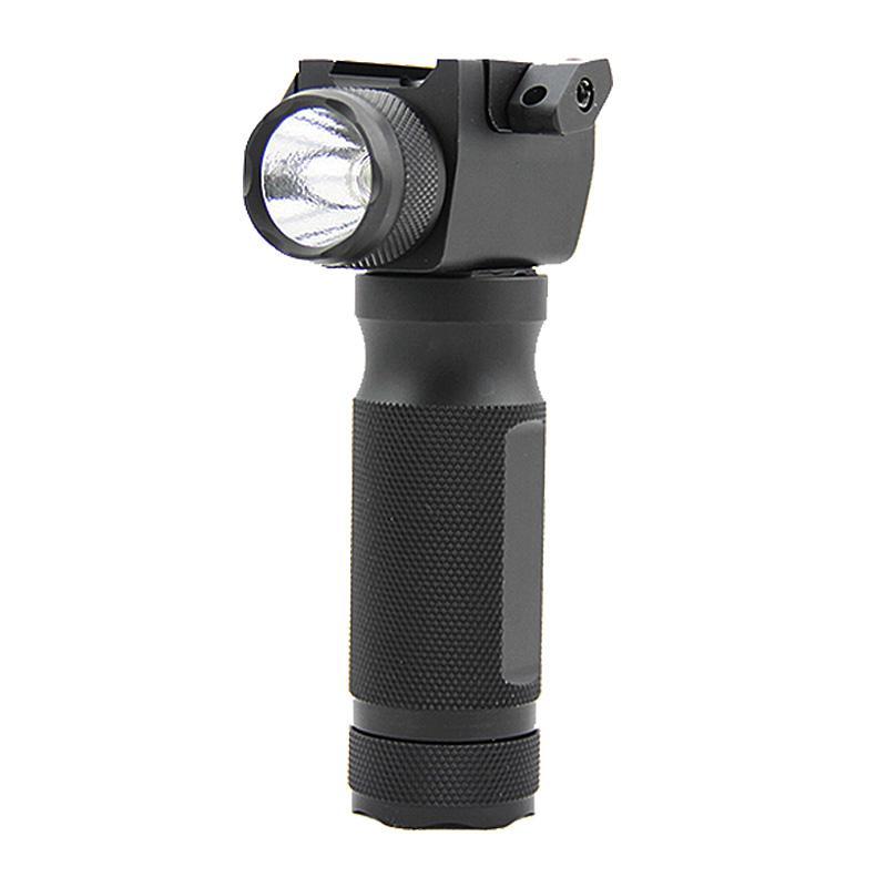 전술적 인 빠른 착탈식 수직 포어 그립 라이플 LED 손전등 사냥 건 라이트와 통합 적색 레이저