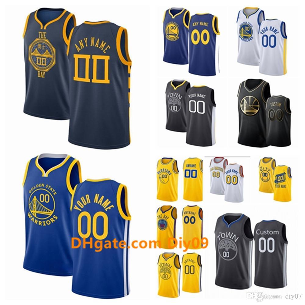 Benutzerdefinierte Golden StateKriegerJersey Kevin Durant 35 Stephen Curry 30 Andre 9 Iguodala Draymond 23 Green Swingman Basketball-Trikots