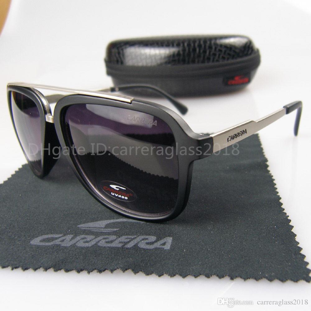 Yüksek kaliteli Mat Metal Çerçeve Tasarım Retro Güneş Moda Erkekler ve Kadınlar Vintage Spor Marka Güneş vaka ve kutu DS01 ile Gözlük gözlük