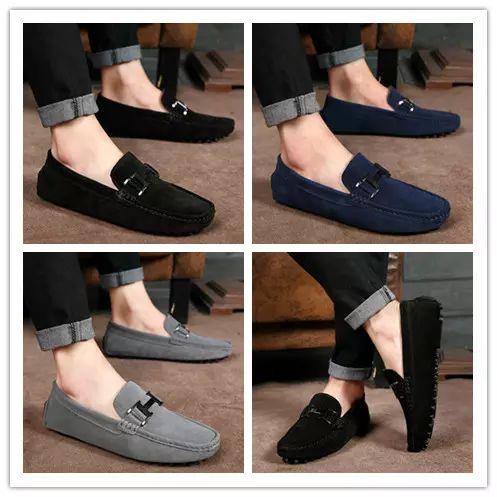 2019 Оптовая цена Мода Мужчины Скольжения на Досуг Плоские Туфли Классические Мужские Мокасины Мокасины Вождения Бизнес Повседневная Обувь AKK0521