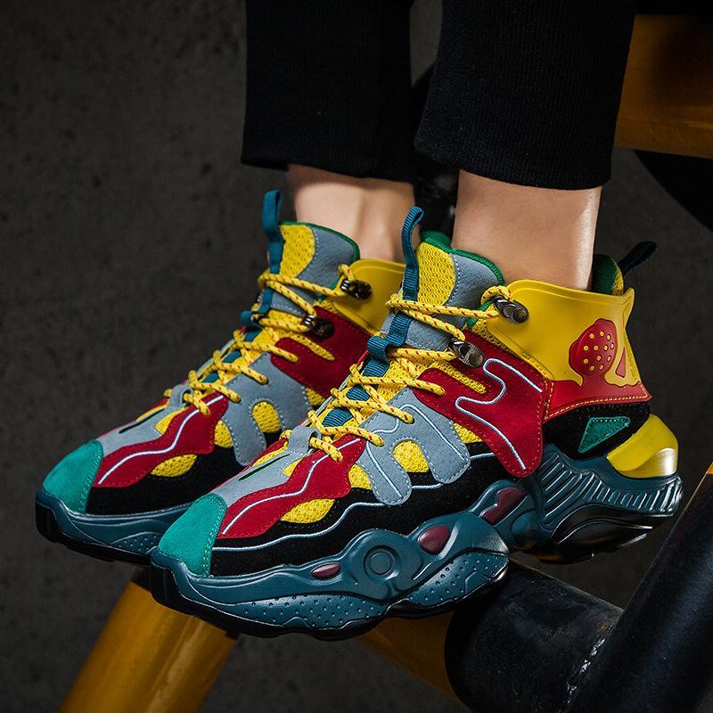Zapatos de promoción deportiva de primavera y otoño Run calzado del deporte zapatillas de deporte novedosa tendencia del partido diosa de los hombres atractivos