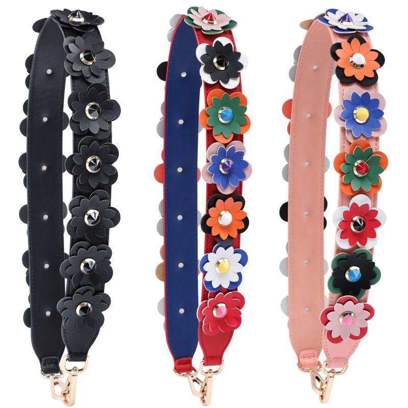 الملونة الزهور موضة الكتف للحقائب الأمتعة الشريط جلدية عالية الجودة وتتولى وحقائب متعددة الألوان