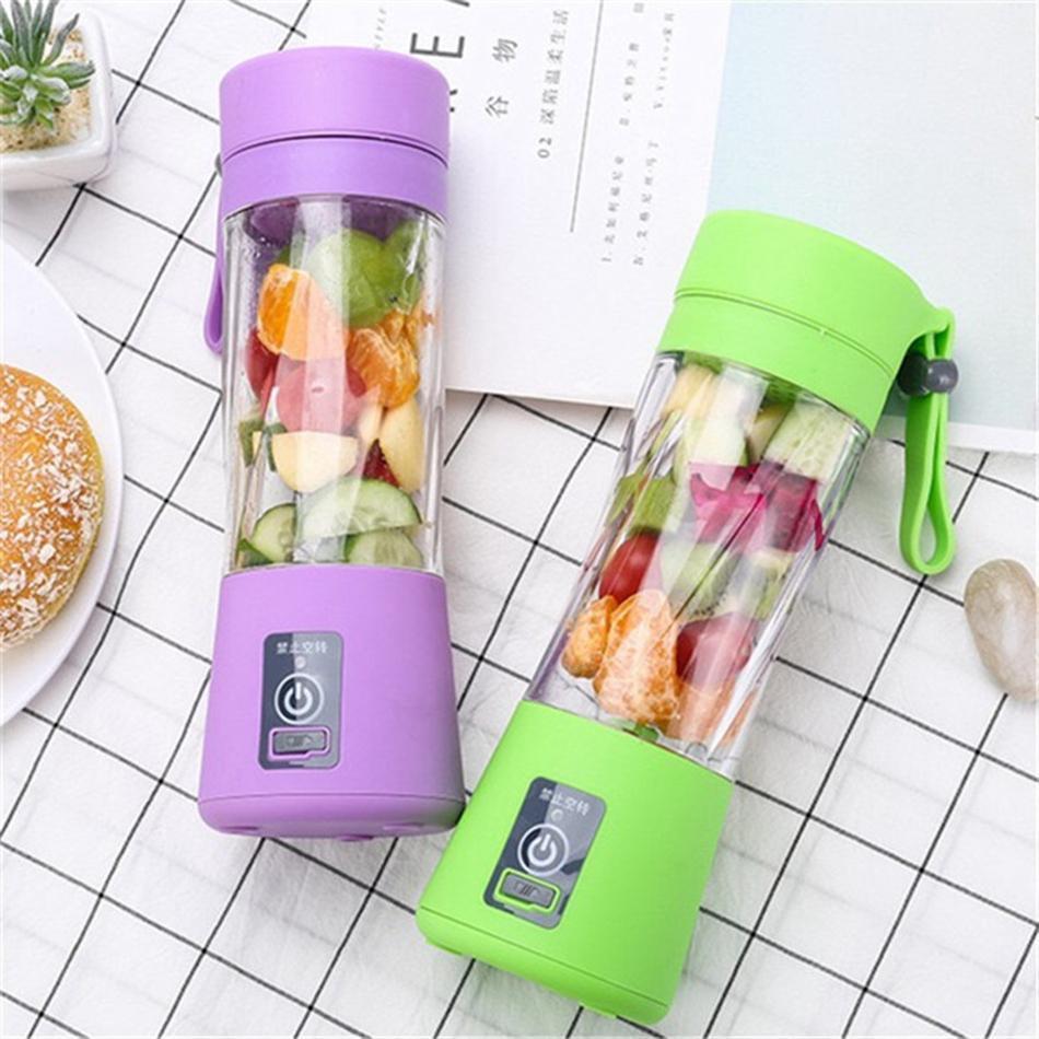 380ml USB électrique Blender Juicer Bouteille rechargeable Portable squeezer jus de fruits Voyage tasse de jus de légumes Maker Cuisine outil LJJA3442-2
