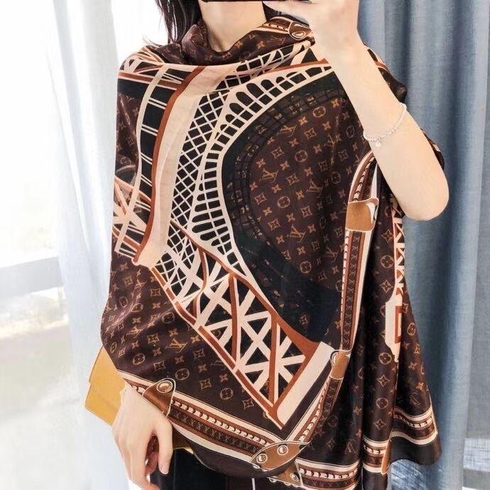 Großhandel Mode Luxurys Seidenschal Pashmina für Frauen Designer Sommer-Schal-Frauen-lange Schal-Verpackung 180x90cm