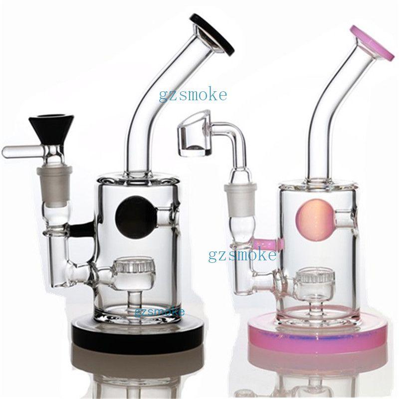 TORO Oil Rigs Glass Gong Jet Perc Bongs purple honeycomb bubbler water pipes heady dab rig Pipe bongs percolator bowl small mini Hookah