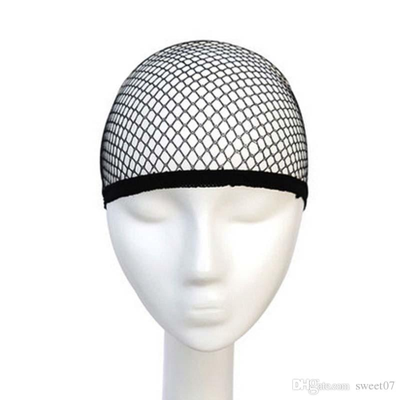 최고 판매 머리망 양질 메쉬 제직 블랙 가발 헤어 넷 제직 가발 캡 머리망 Sweet07 모자 만들기