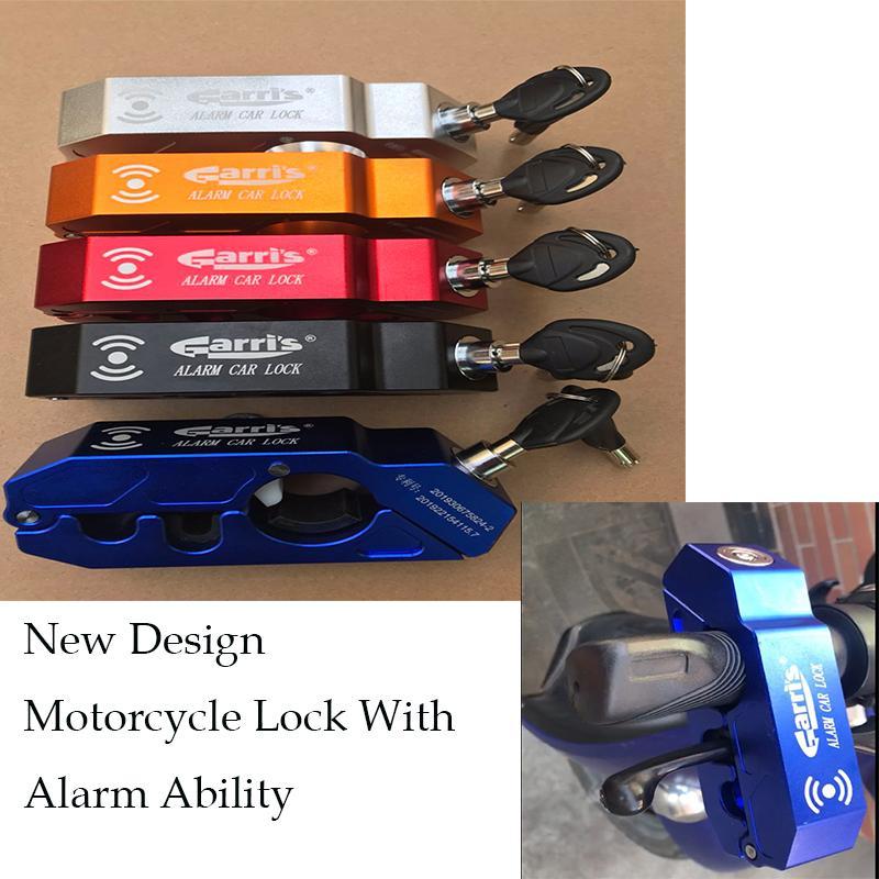 Segurança Locks New Design Motocicleta aperto bloqueio CNC Segurança guiador Handset Brake alavanca de travamento do disco com alarme som Ability