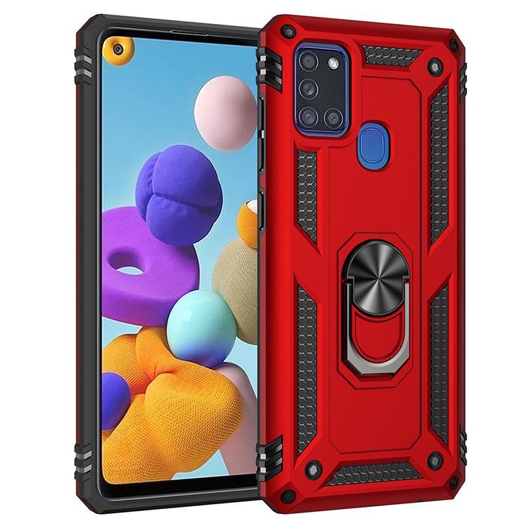 libere la nave Para el caso de Samsung Galaxy A21S Heavy Duty armadura a prueba de golpes de goma de silicona duro cajas traseras teléfono de la tapa
