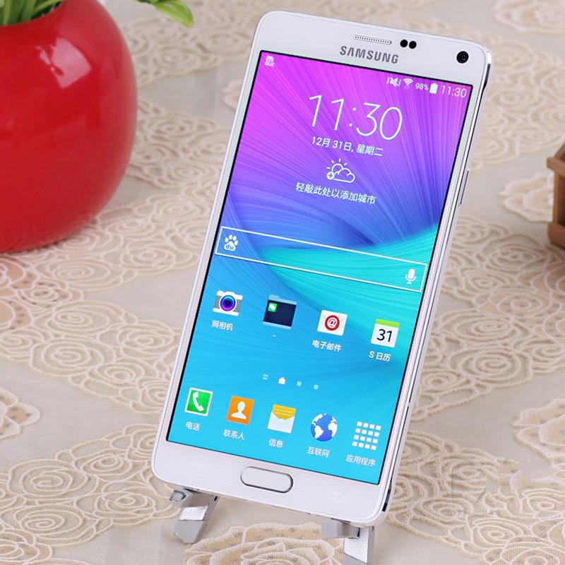 Entriegelte ursprünglich Samsung Galaxy Refurbished Hinweis4 Dual-SIM 5,5 Zoll vier Kern 1,5 GB RAM 16 GB ROM 4G LTE Handy frei DHL Paket