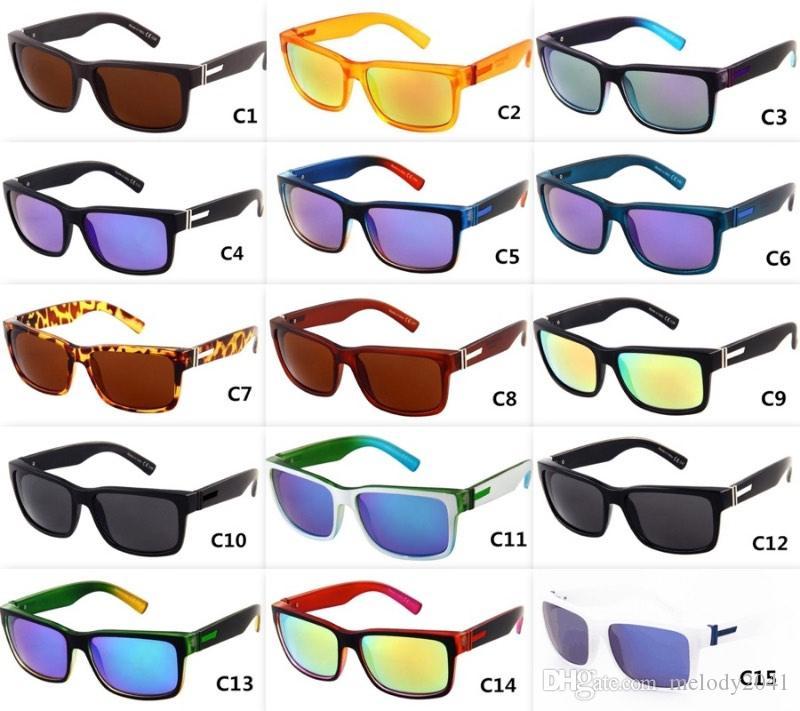 15 Farben Herren Sport Sonnenbrille Coole Outdoor Eyewear UV400 VZ001 Mix-Modelle Logo Großhandel Brillen