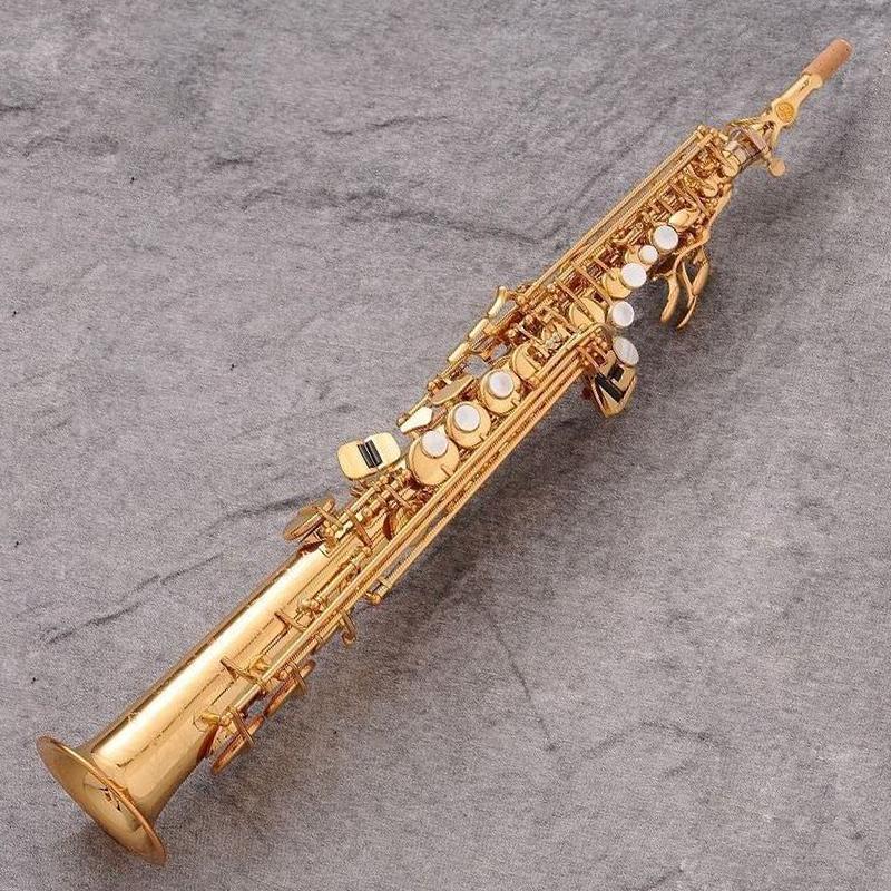 New Japan Marca 875EX Bb plana saxofone soprano de alta qualidade instrumentos musicais Soprano profissional Mouthpieces Caso Reeds