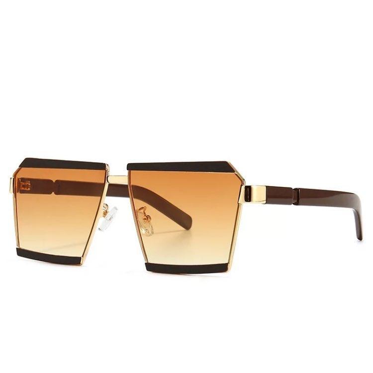 Mode übergroßen Sonnenbrillen Klassische Ein bessert Platz Brille im Freien Spielraum Frauen Männer Flat Top Brillen ES2121