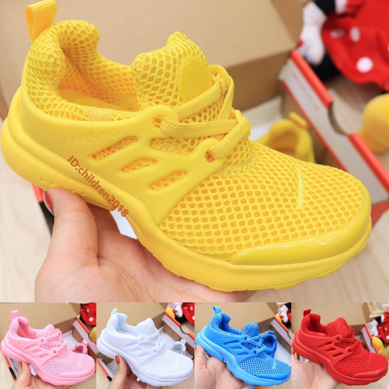 Aire Presto Ultra niños zapatos corrientes de las zapatillas de deporte 2020 Diseñador Babys tamaño fresco Amarillo Negro Blanco Triple zapatos infantiles tamaño 26-35