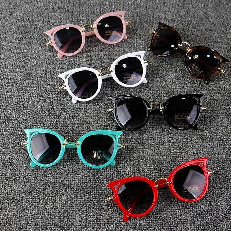 Bebé cabrito del verano Gafas Niño Niña gafas de protección gafas de sol al aire libre Accesorios de vacaciones Cat Forma gafas de sol UV400 de regalos
