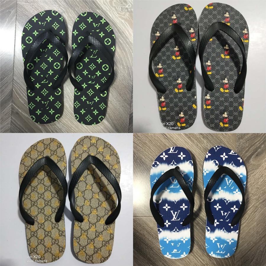 Mulheres sandálias Roma Estilo Sandálias do verão para 2020 falhanços de aleta Plus Size 36-45 Plano Praia Verão Zapatos Mujer calçados casuais # 931