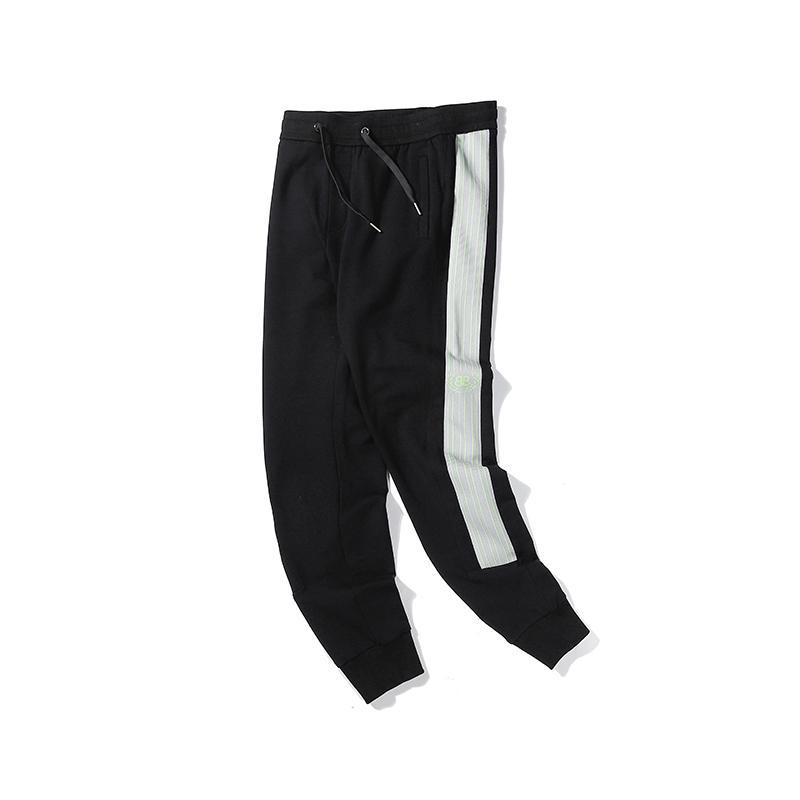 Горячие женщин людей Brandpants Designerpants моды эластичный пояс Роскошные длинные штаны флуоресцентный зеленый письмо Брюки Top Quality A1 2030209V