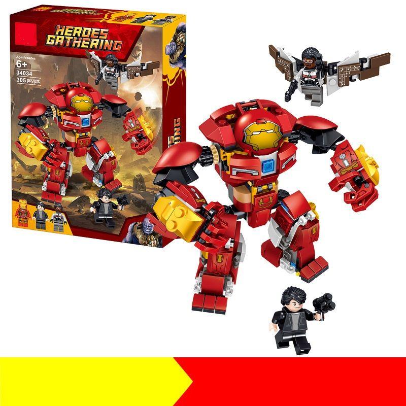 34034 Avenger Alliance Machine Armor Plug Bloques de construcción de juguetes Iron Man Children's Intelligence Building Blocks