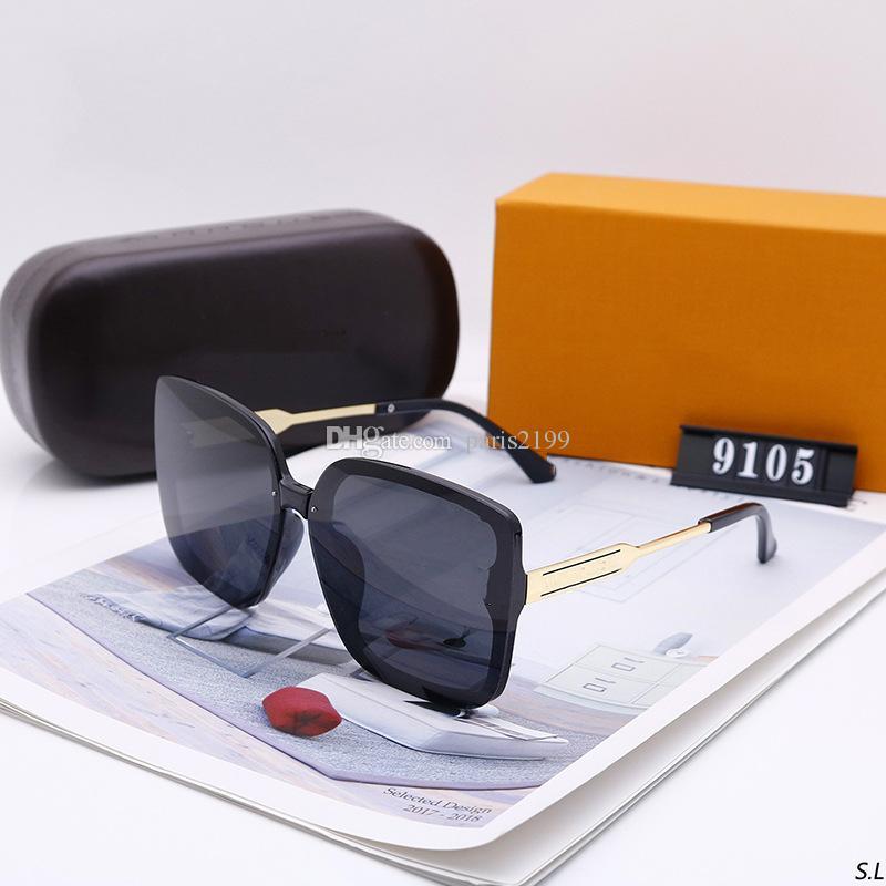 남성 여성 복고풍 뜨거운 판매 고품질의 패션 골든 프레임 갈색 편광 유리 렌즈 UV400 보호 갈색 선글라스 선글라스