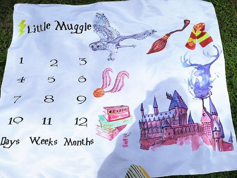 Personalizado recém-nascido Photo fundo Props Magic Castle macio cobertor infantil Limpar Impressão Digital Qualquer padrão pode ser personalizado 100x100cm