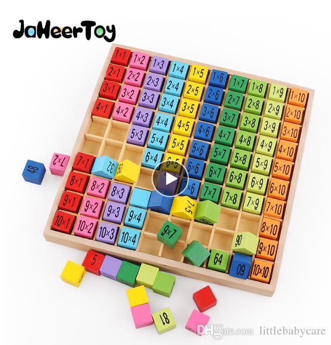 Montessori giocattoli educativi di legno per bambini giocattoli del bambino 99 Moltiplicazione Tabella matematica Aritmetica sussidi didattici per i bambini